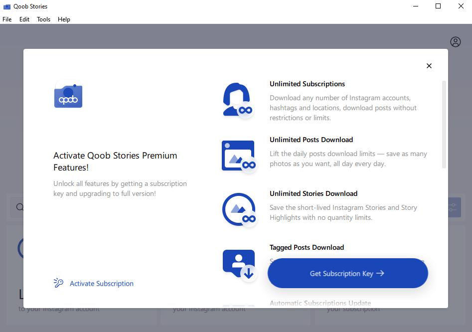 Click Activate Subscription button